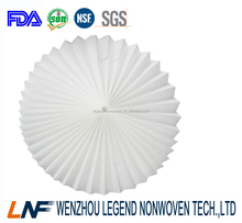 edible level filtration nonwoven material used for making coffee filter