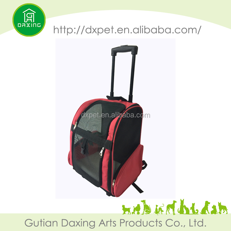 Luxury expandable pet carrier on wheels