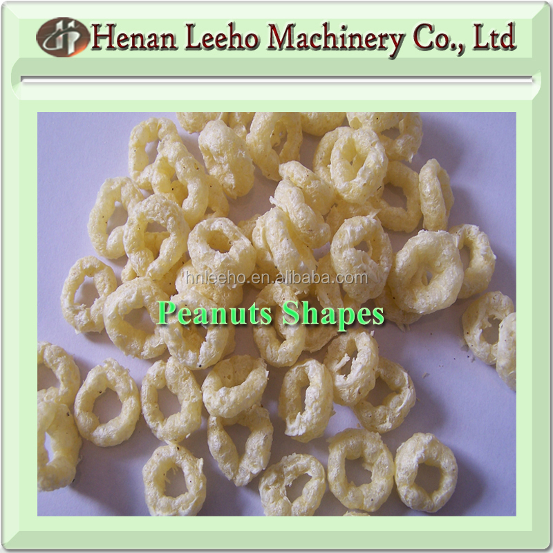 LEEHO brand plum flour shapes grain puffed equipment