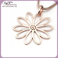 Fashion jewelry stainless steel pendant rose gold jewelry