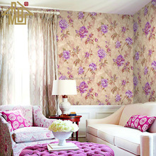 China Alibaba Suppliers Flowers Design 1.06m Vinyl Wallpaper for Walls