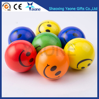 Christmas Gifts Promotional Smile Face Emoji Shaped PU Softball Stress Ball In Stock Hot Selling