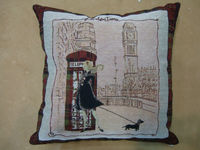 jacquard cushion polycotton cushion for home &hotel decoration &promotion&gift &supermarket retail ----london time