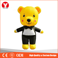 Yellow Giant Inflatable Bear, hot big cartoon character tall