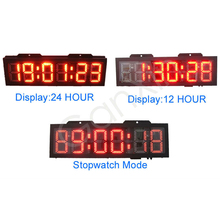 Aliexpress nuovo double face grande led impermeabile orologio digitale