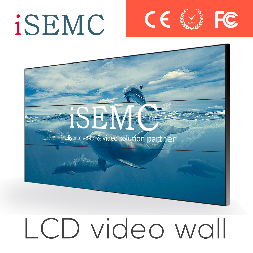 46 Inch HD LCD Video Wall with HDMI matrix for Security Admin Center