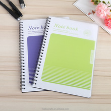 customized creative covers for coilnotebook soft cover loose leaf notebook