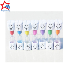 Plastic Tooth shape Hourglasses 1 Minute Mini Sand Timer Factory