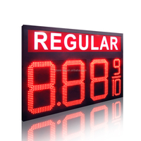 2 years warranty four digits 7 segment regular led gas station price display