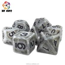 High Quality Multi-Sided Dice With Ancient Effect D4,6,8,10,10%,12,20 dice sets ,RPG Dungeons and Dragons Game Dice