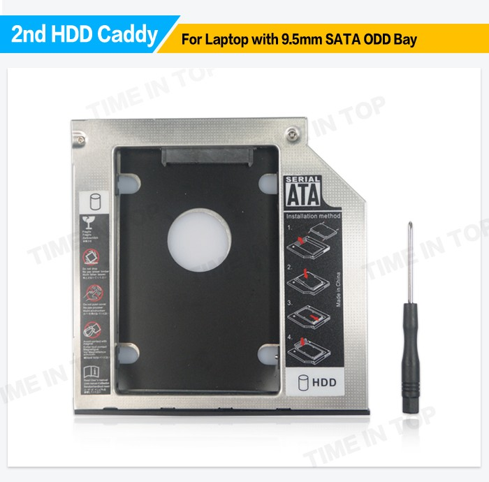 9.5mm Universal SATA 2nd HDD Caddy Model TITH4B for lenovo laptops