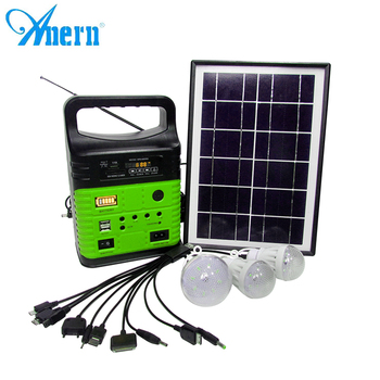 China high quality mini portable 10w solar power system for home