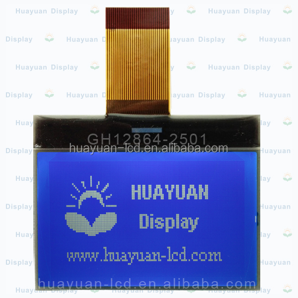 12864 128*64 Graphic Matrix LCD Display Module TN/STN Blue Backlight White Character 5V Logic Circuit