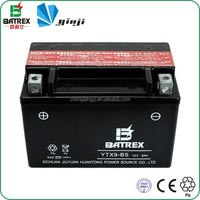Excellent Low Temperature Start Performance 12v 9ah Motorcycle Battery For Tricycle