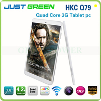 Hot Sale 3G Phone Call Tablet PC 7.9 Inch IPS Screen MTK 6589 Quad Core Android OS 4.2 HKC Q79 Quad core 3G Sigle Sim Tablet