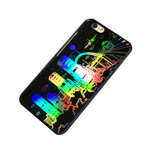 2017 hot selling new designed mobile phone case ,Colorful City Rainy Night Building Back Cover Case with the best price