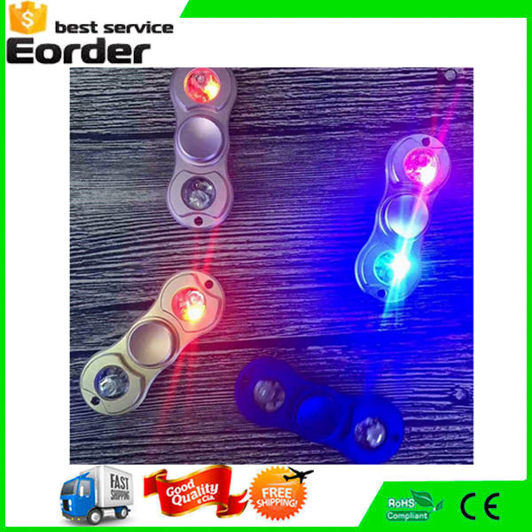 Large Spot Sale LED Fidget Spinner Alloy Toy Light Hand Spinner Metal