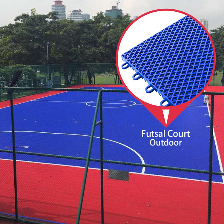 Multi purpose waterproof new pp plastic outdoor sport court futsal flooring