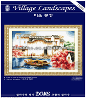 Village landscapes Dome cross stitch, cross stitch kit, DIY embroidery kit to you