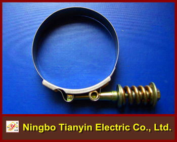 T Type With Spring Stainless Steel Hose Clamp