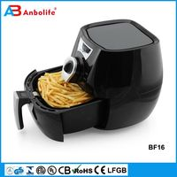 Anbolife electric deep air fryer without oil for household manual air digital control deep fryer made in China