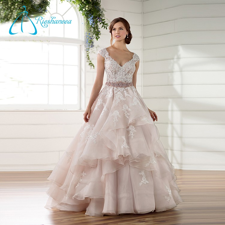 Lace Appliques Sashes Crystal Button Wedding Dress Appliques