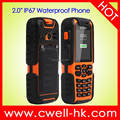 2.0 Inch IP67 Waterproo Rugged Feature Phone Cheap Rugged Phone Stock Available