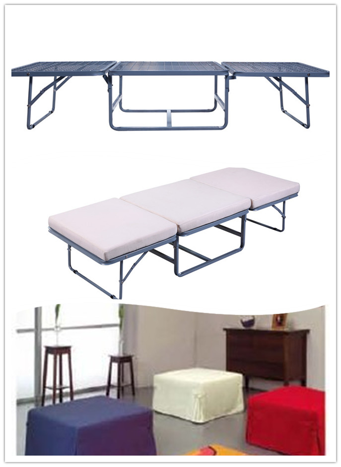 Modern Single folding foam matterss metal sofa bed frame