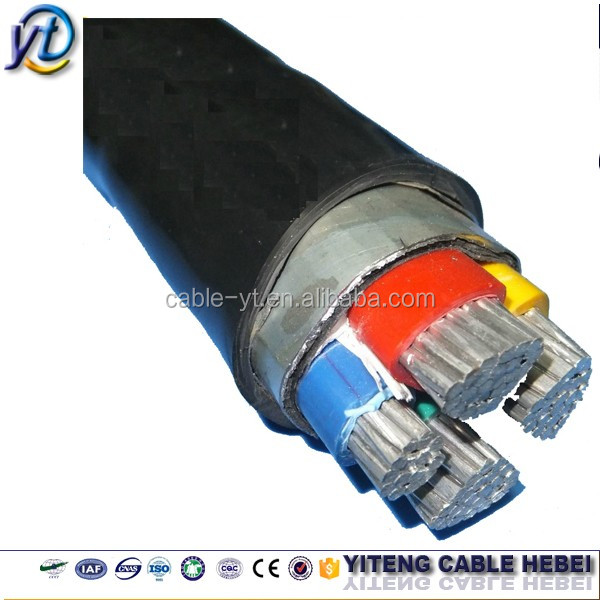 low voltage XLPE / PVC/ SWA/ PVC fire resistant aluminum power cable