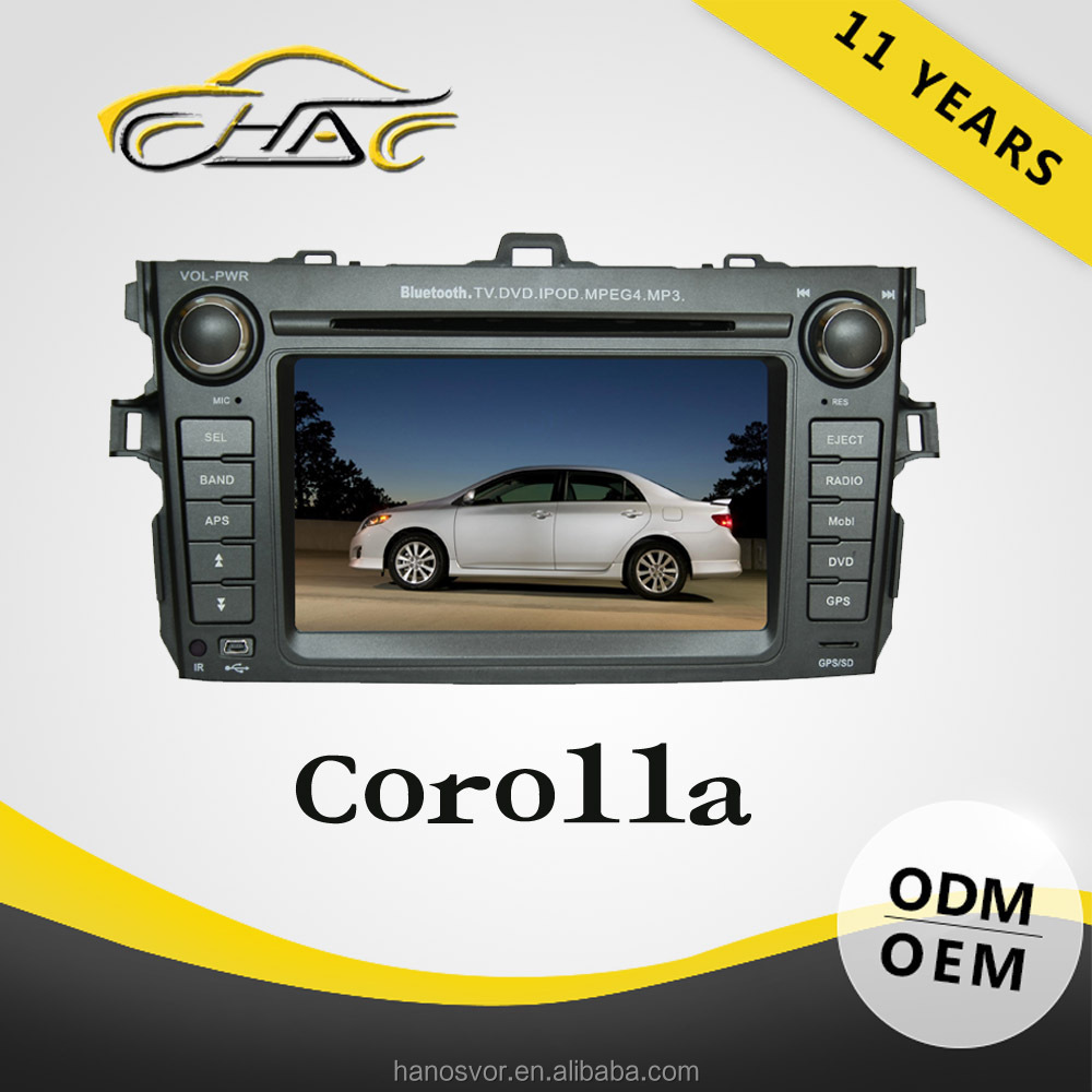 2 din car radio car audio navigation system car dvd lcd player for toyota corolla