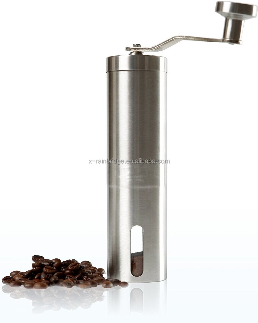Manual Coffee Grinder Portable Slim Ceramic Burr Spice Mill, manufacture in China