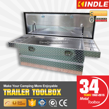 Factory On-Sales Diamond Thread Finished Aluminum Truck Single Top Open Lids Top Chest Toolboxes
