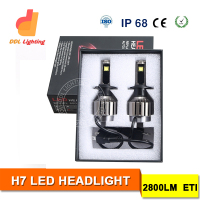 DDL 2016 High Lumen H7 car led bulb headlight H4/H7/H8/H9/H10/H13/HB4/HB3 auto led headlight bulbs for cars and motorcycles