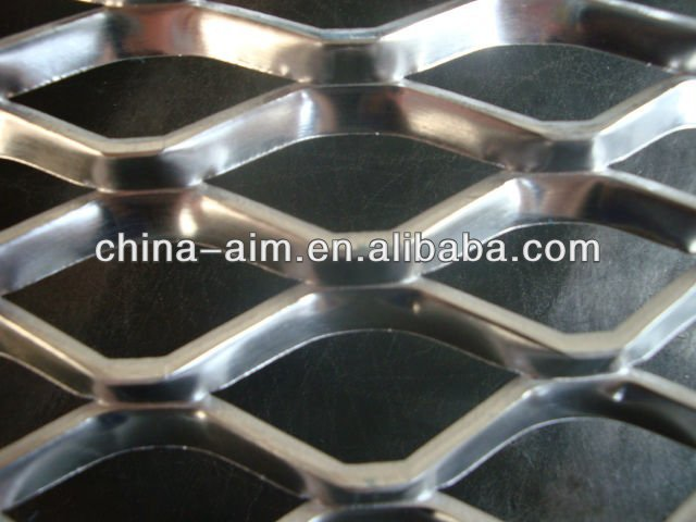 decorative thick diamond oxydic aluminum expanded metal plate