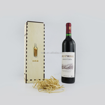 SLTJ-003 Wooden Bottle Box Wine Storage Scrapbooking Embellishment Wedding Gift Box