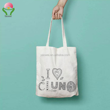 newest Promotional cheap wholesale logo print recycle cotton canvas bag custom fabric organic calico tote bag