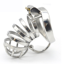 Stainless Steel Male Chastity Large Cock Cage with Base Arc Ring Devices Penis rings Adult sex toys C274