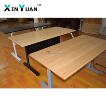 sit to stand manual crank desk with real bamboo top or laminate top for office home use