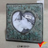 antique metal heart-shaped picture frames