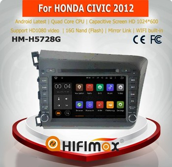 Hifimax auto radio for HONDA CIVIC 2012 car audio car stereo head unit for civic android car pc system