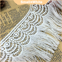 Embroidery 3D wavy fringed lace trim