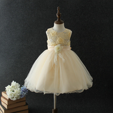New Pakistan vintage girl dresses princess children unique birthday party dress Indian flower ball gown for 6 years old