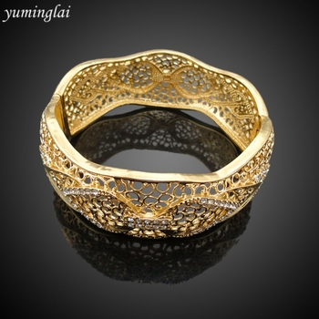Latest Design CZ Copper Fashion Bangle European and American punk style Fashion Jewelry Bracelet GHK948