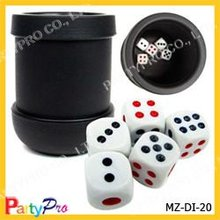 2015 New Design China Supplier Plastic Dice Gambling Dice 16mm Melamine Casino Dice