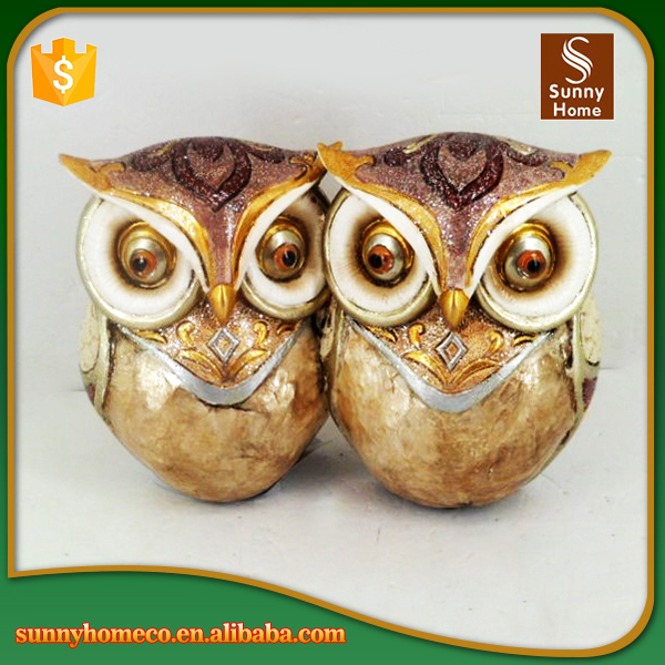 Hand painted good quality best sale resin custom owl figurine