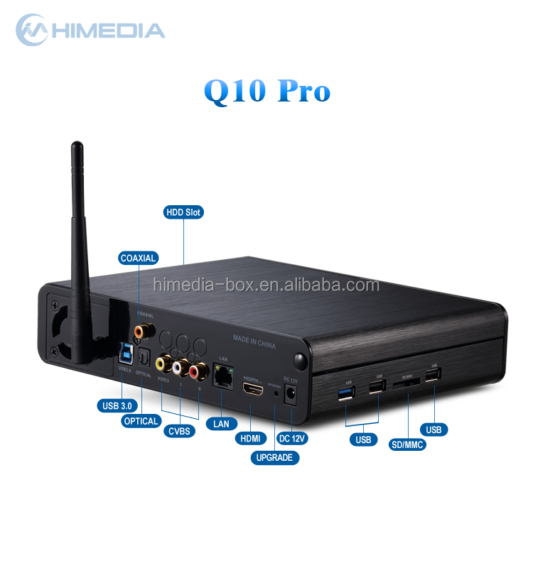 2016 Hot 4K Ultra Output Android TV Box Himedia Q10 pro quad core Kodi 16.0 Android 5.1 IPTV box OTT streaming box