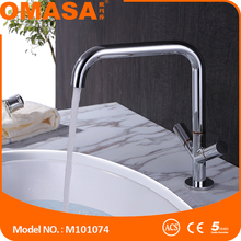 Mosiezny kran basin faucet single hole basin faucet cover plate bathroom basin mixer