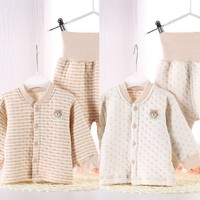 new design custom organic cotton infant gown