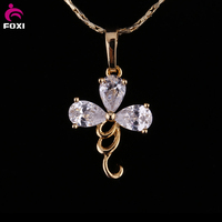 Wuzhou Foxi CZ Jewelry Hot New Design Fashionable Lady's Pendant with 18k Gold Pltated