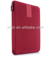 Red Nylon Protective Flat Tablet Cover Case For Hard EVA